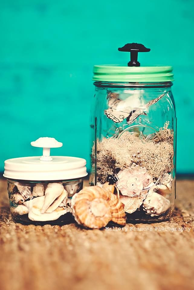 Seaside Mason Jars by Mallory Francks Seaside