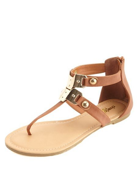 19df1a4408e Gold-Plated T-Strap Thong Sandals  Charlotte Russe