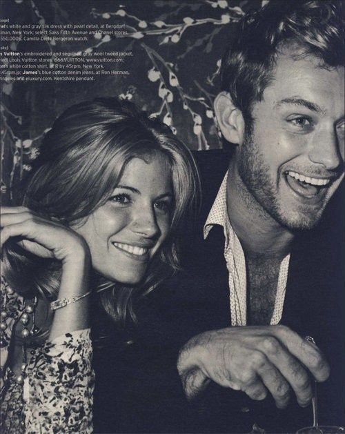 Sienna Miller and Jude Law.