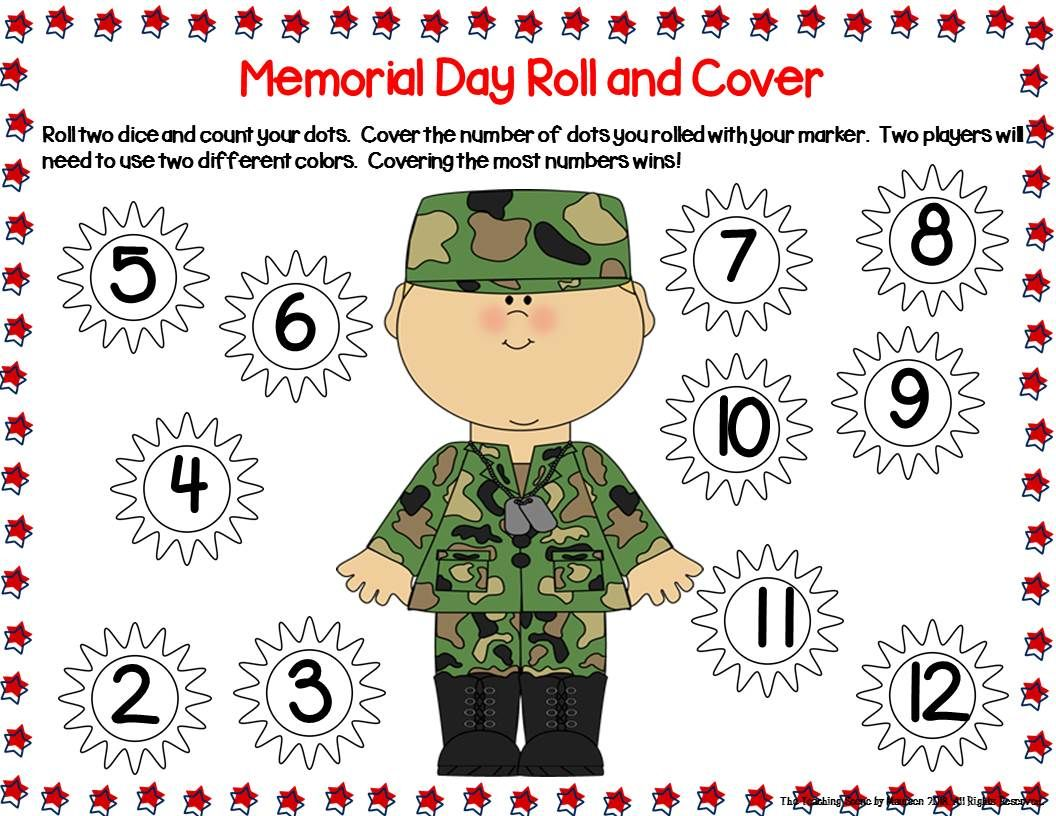 Memorial Day Unit Activities Amp Centers