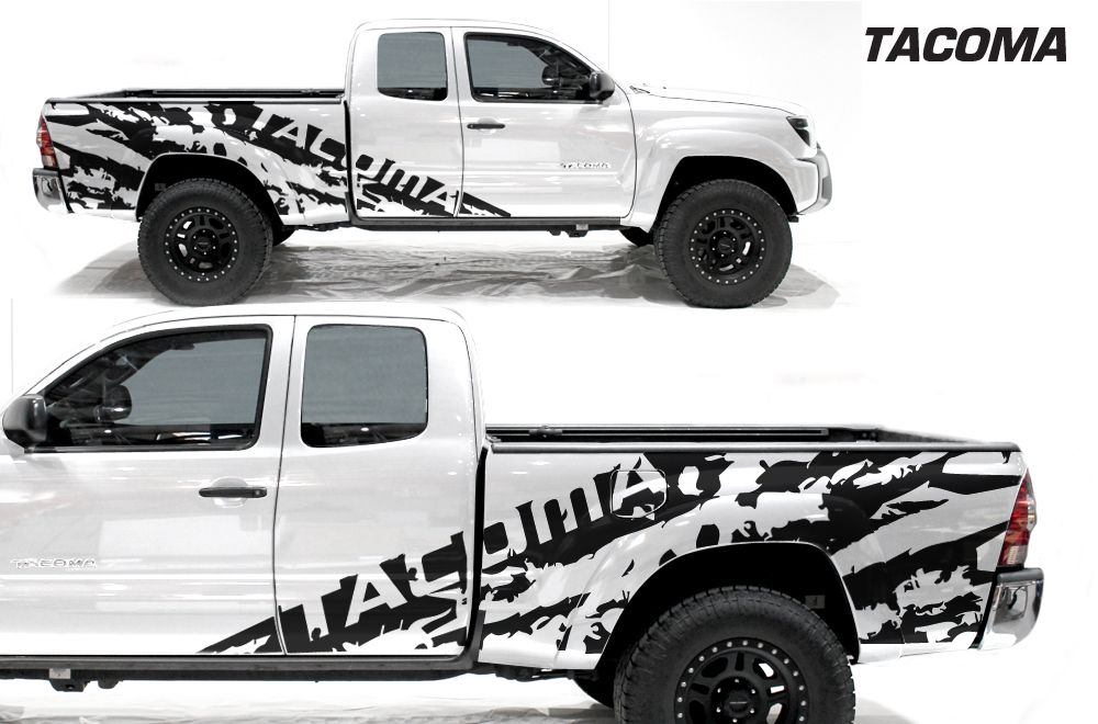 Toyota tacoma 2005 2015 full decal wrap kit shred 4d long bed my truck pinterest toyota tacoma toyota and offroad