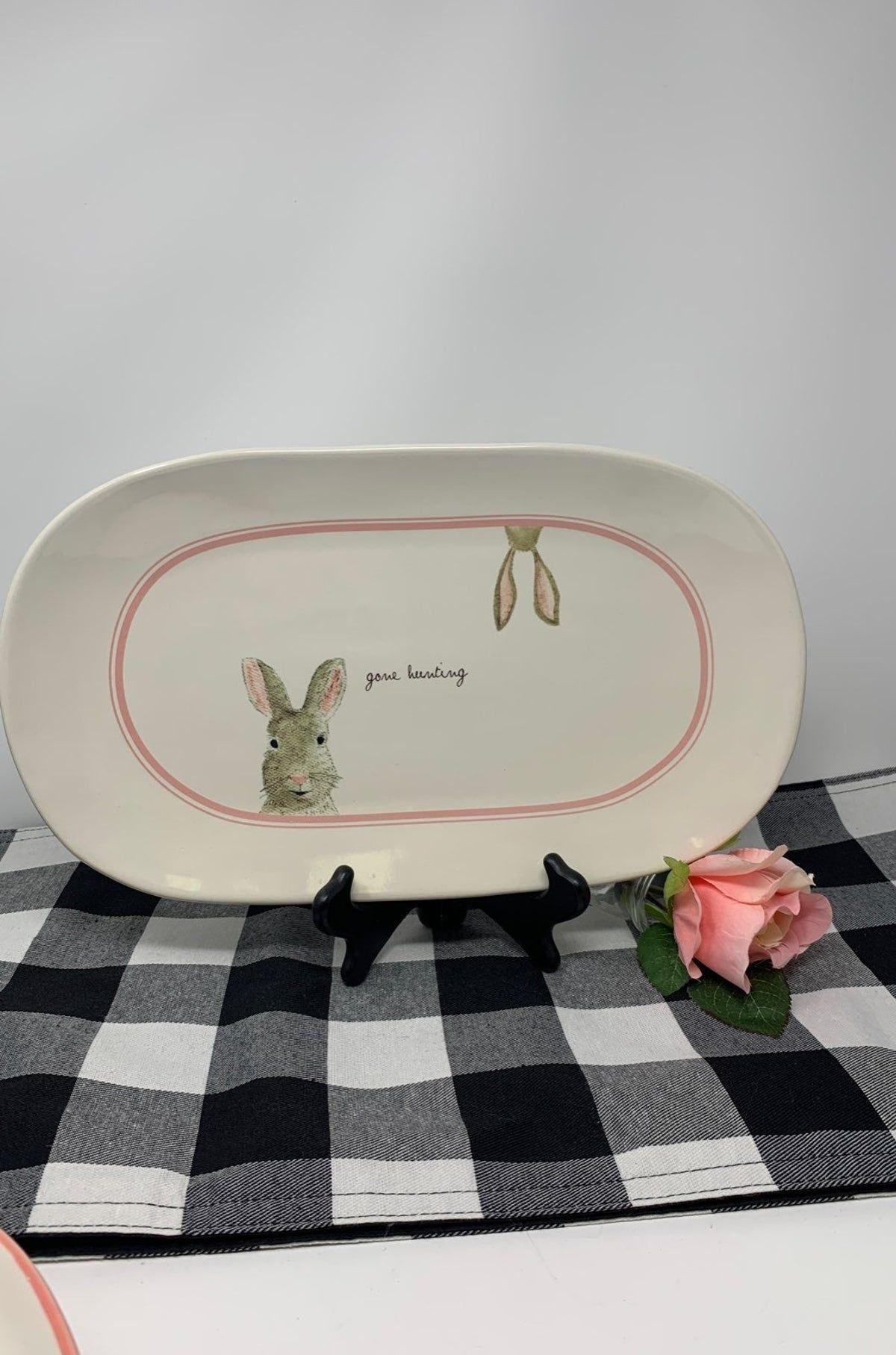 Rae Dunn Easter Bunny Platter