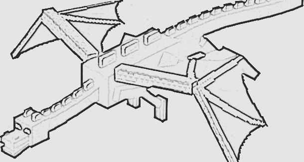 Printable Minecraft Enderdragon Coloring Page Felipao