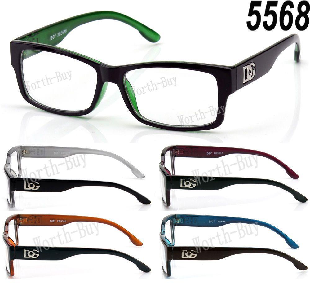 071df3df3b New DG Fashion Retro Rectangular Designer Clear Lens Square Frame Eye  Glasses RX