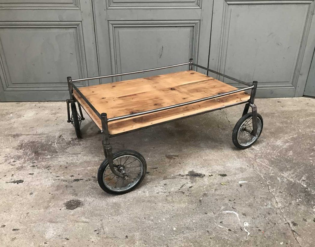 Table Basse Chariot Industriel Ancien Chariot D Hopital Des Annees 30 Table Basse Table Basse Palette Table
