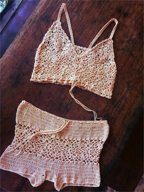 Ravelry: DIY Size Free Crochet Pattern: Motificat! Cropped Cami Top ...