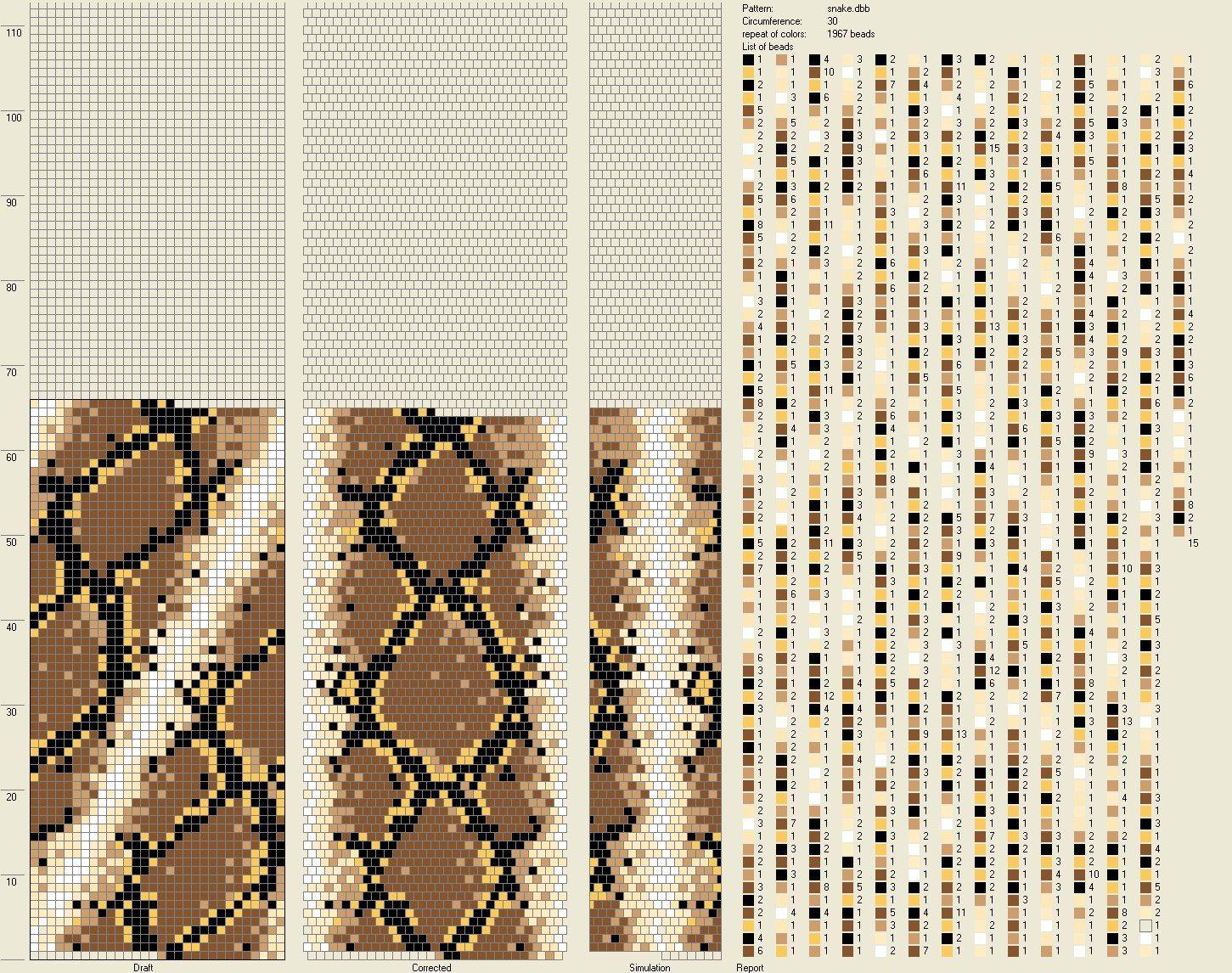 Python 1 - c ThWaeGwyA1k.jpg (1451×1146)   bead crochet tutorial ...