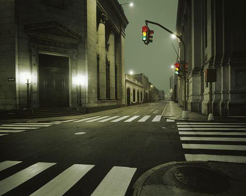 Empty City Street Urban Landscape Landscape Night Photography