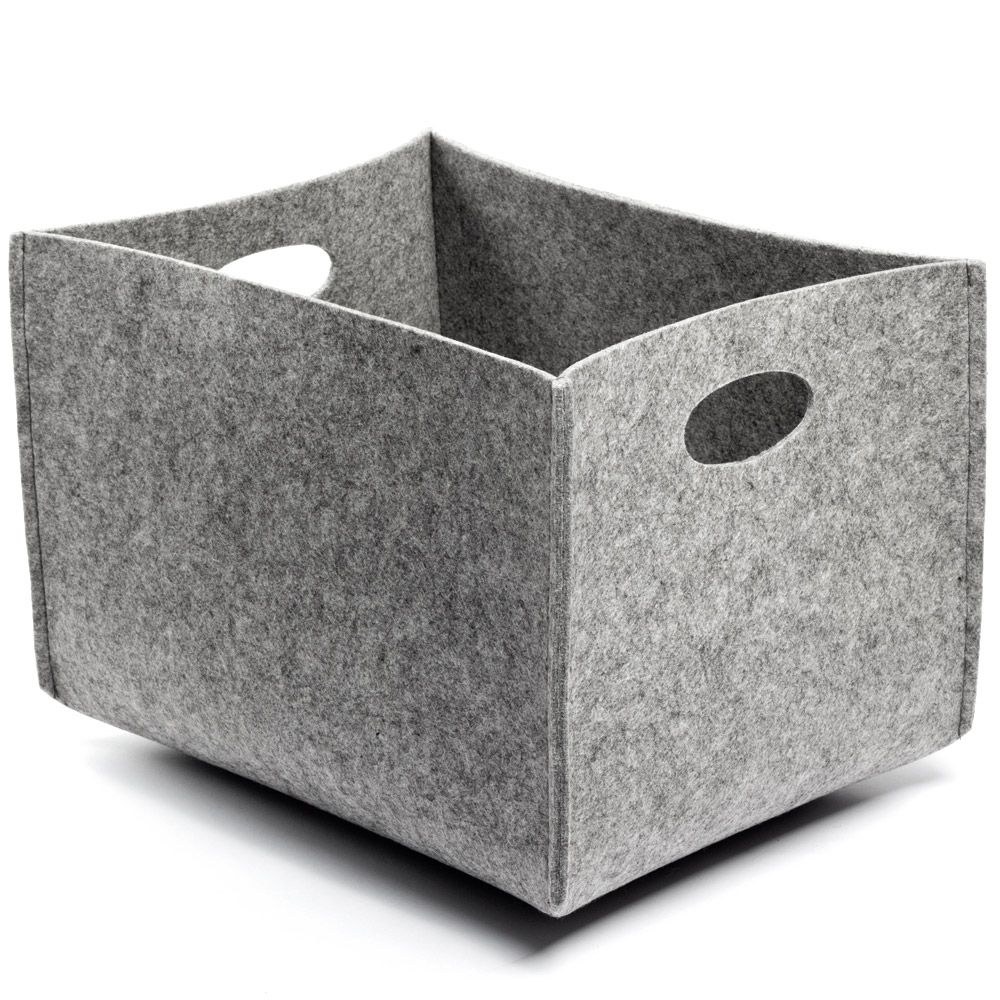 Canvas Of Felt Storage Bins Offering Stylish Storage For Your Home  Decorations