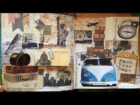 Art journal page remake - Pack your bags #lovesummerart