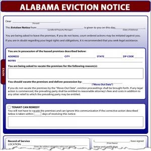 AlabamaEvictionNoticeX    Alabama Eviction Notice  Legal
