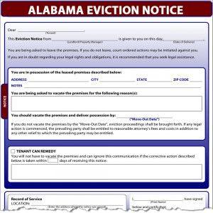 AlabamaEvictionNoticeX    Alabama Eviction Notice  Legal