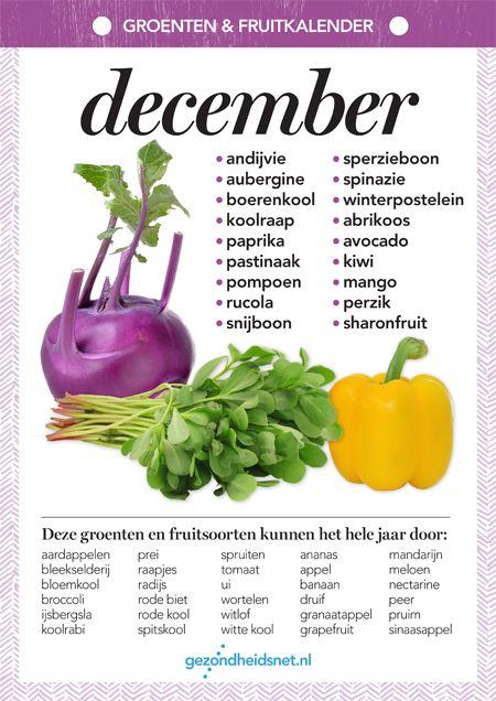 Uitzonderlijk Seizoensgroenten december | Gezondheidsnet | Groentenseizoen in &BW44