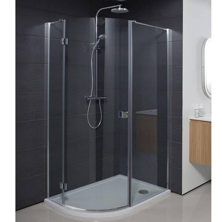 8mm Framed Hinged Door With Inline Panel 1100mm V10151015 Front Angle Square Large Shower Doors Sliding Shower Door Glass Bathroom
