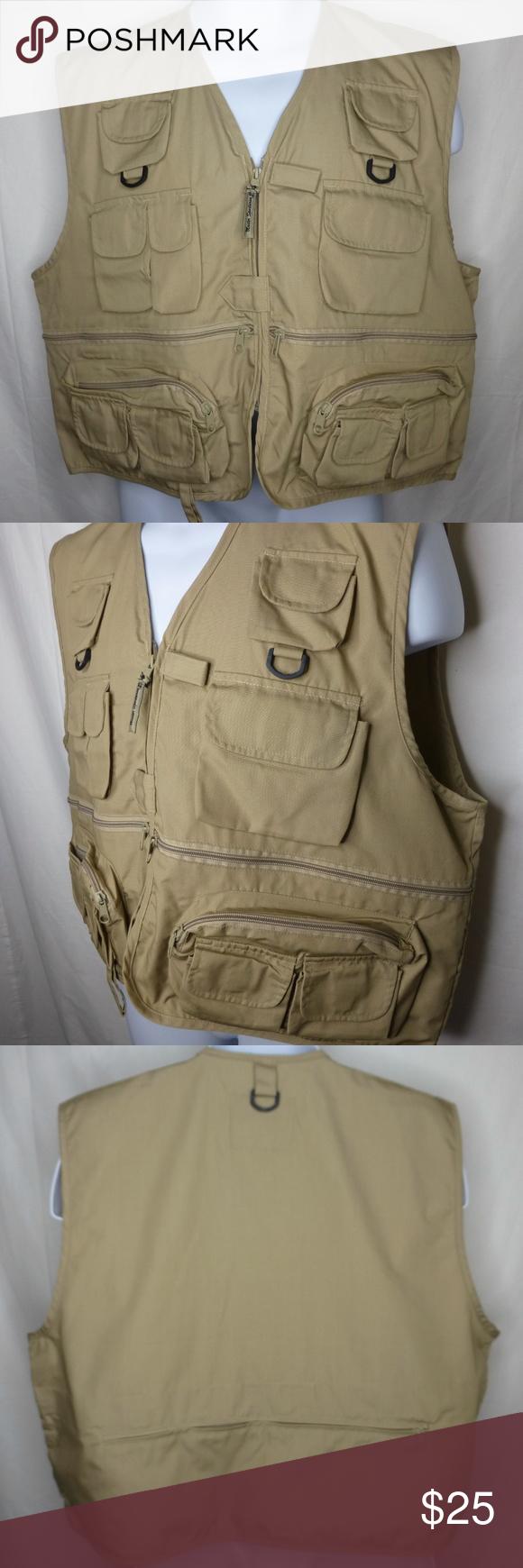 422eeddf651fbd Photographer Hunting Fishing Tactical Vest Men s XL Multi Pocket Vest  Safari Photographer Cargo Hunting Fishing Tactical