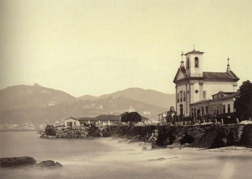 George Leuzinger, Igreja de Santa Luzia, Rio de Janeiro, Brazil, ca. 1865.  Source: Instituto Moreiraa Salles