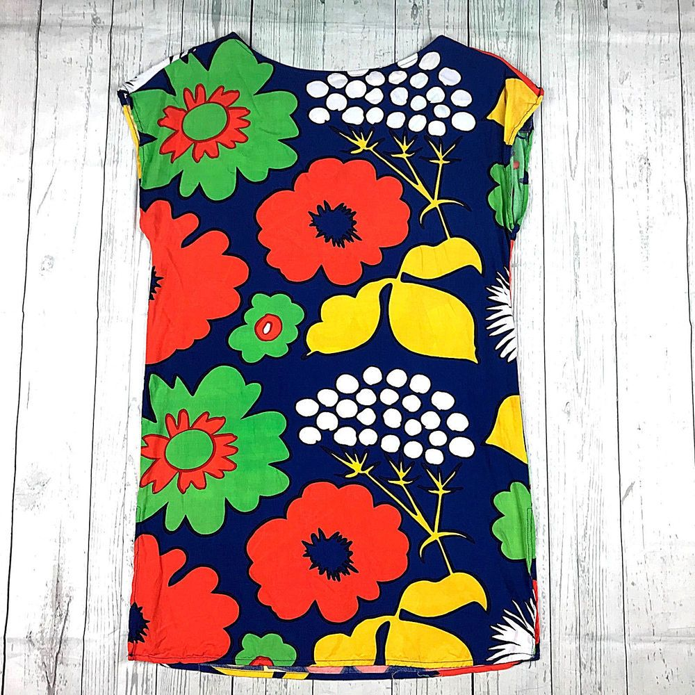 b55f0191f85 Marimekko for Target womens XS multicolor floral print tunic shift dress # Marimekko #ShiftDressTunicDress #