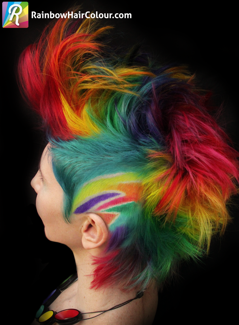 The trade rainbow mohawk for rainbow katwise inspired dress