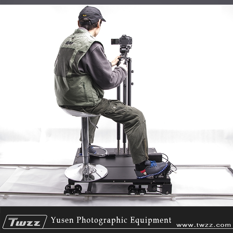 500.00$  Watch here - http://aliccs.worldwells.pw/go.php?t=32758738928 - Twzz Manned Electric Camera Dolly Track Rail Manual Remote Control Foot Control
