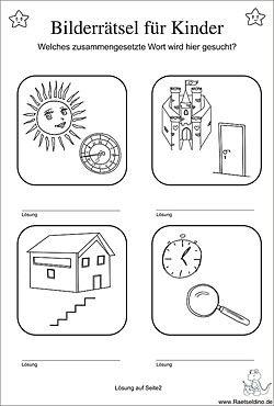 Bilderrätsel für Kinder  Bilder rätsel, Rätsel für kinder