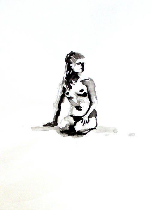 Nu III - HHugon - Hélène HUGON - Peinture, Dessin, Photo, Kid Project | NUS