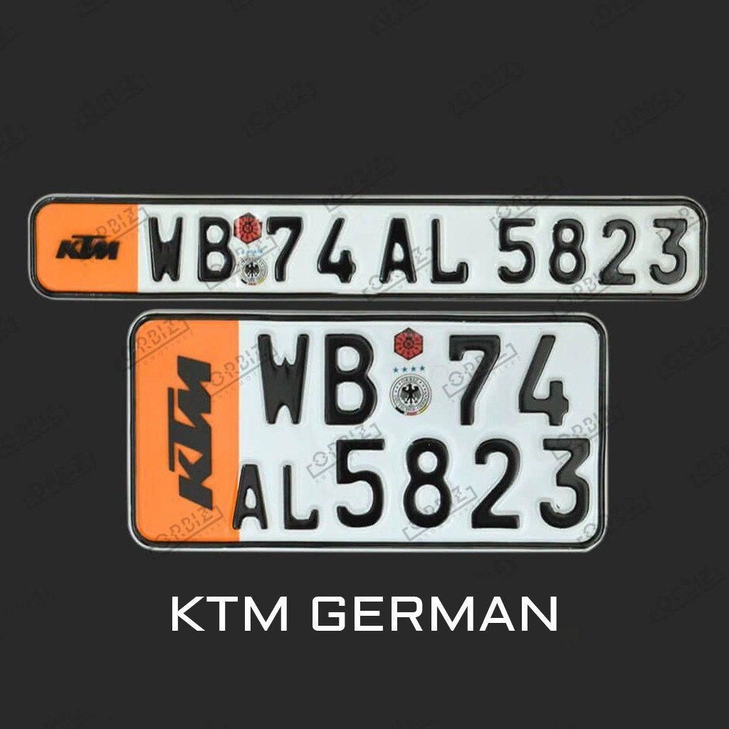 Orbiz Ktm Special Number Plate Design Number Plate Ktm