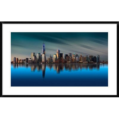 "Global Gallery 'New York World Trade Center 1' by Yi Liang Framed Photographic Print Size: 26.2"" H x 42"" W x 1.5"" D"