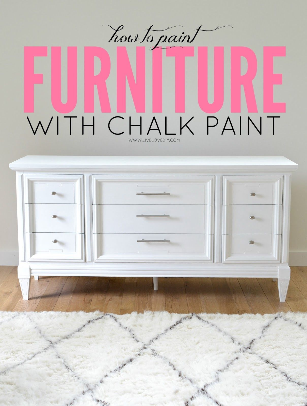 How To Paint Furniture With Chalk Paint And How To Survive A Diy Disaster Livelovediy Painting Laminate Furniture Redo Furniture Furniture Diy