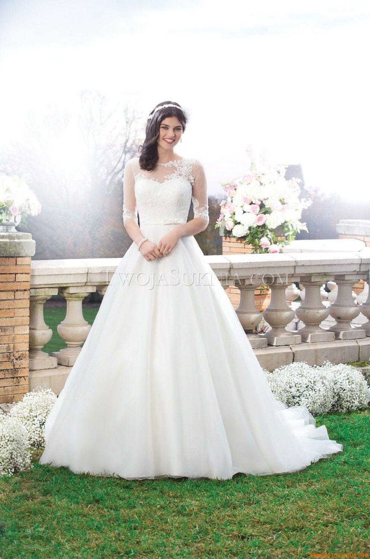 Schöne halbe Ärmel Princess-stil Brautkleider aus Organza mit ...