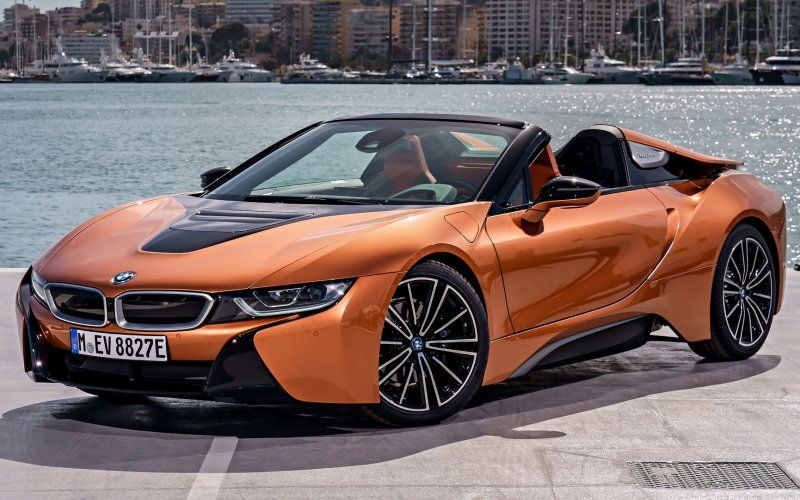 Wallpaper Orange Super Car Bmw I8 Cars Wallpapers Pinterest