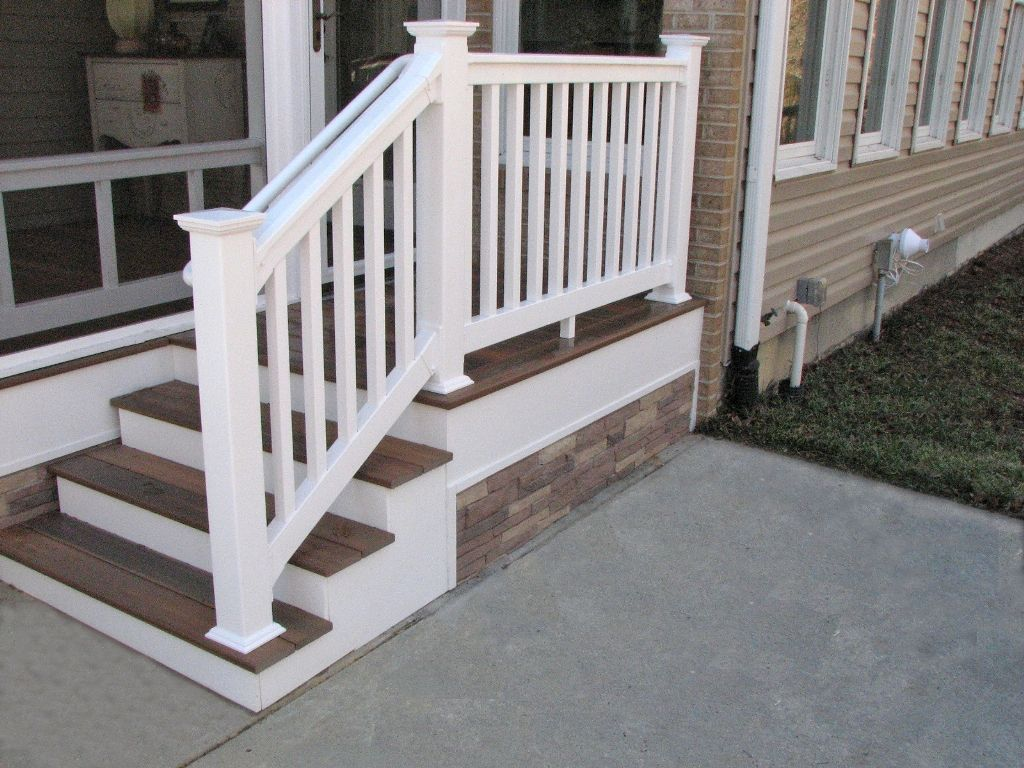 Best Deck Steps With White Pvc Railing Fiberon Decking 640 x 480
