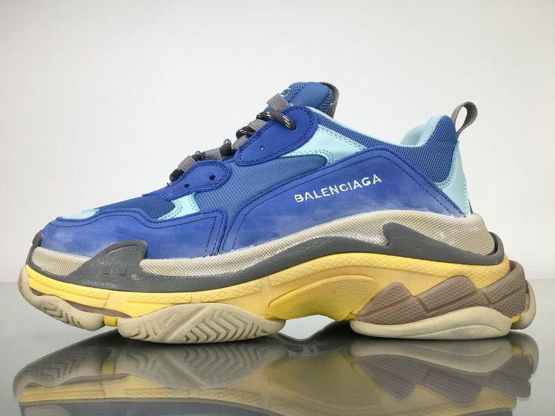 bb223d527a52 Balenciaga Triple S 483513W06F24704 Blue Shoes 1