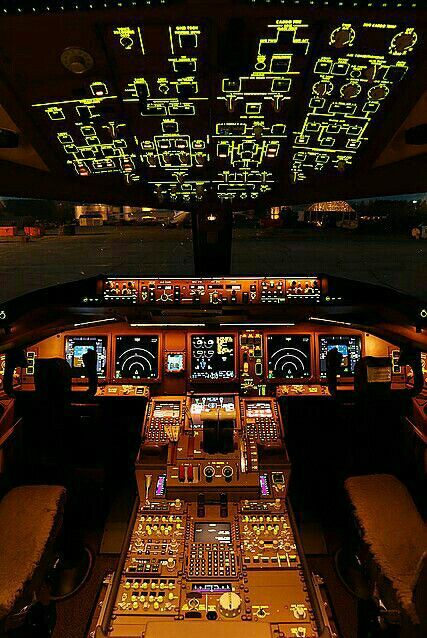 Cocpit Airplanes Airplane Boeing 777 Aircraft