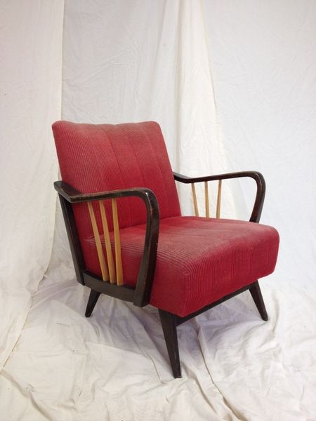 Sessel comic  Vintage 60er Jahre Cocktailsessel rot von Chair & Table auf ...
