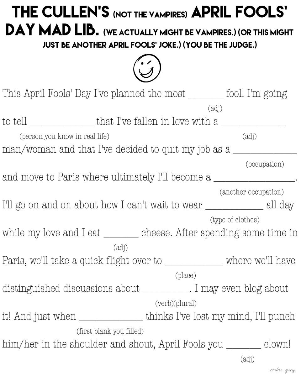 hight resolution of Going Mad. - Ember Grey   Mad libs