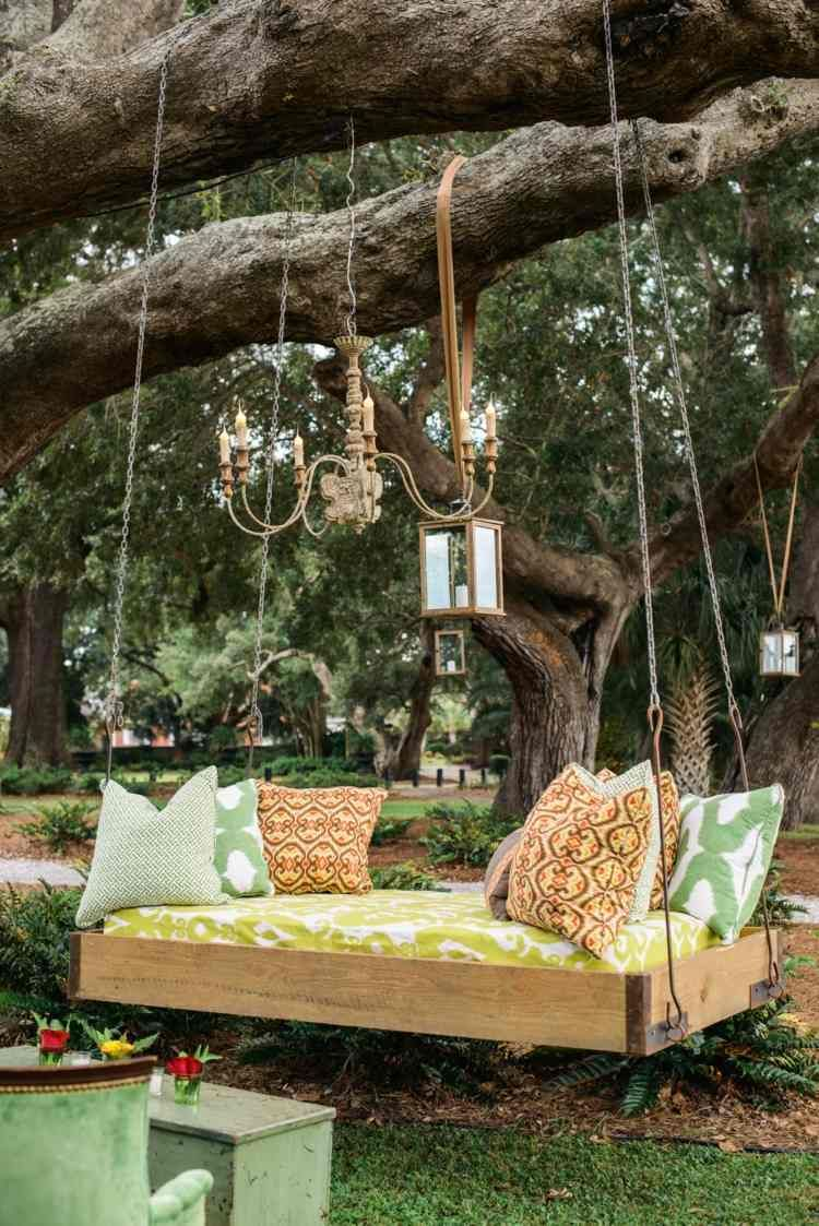 HängendesOutdoor Bett für Garten selber bauen   Garten, Natur ...