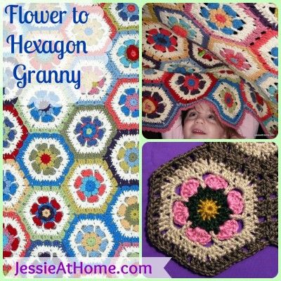Flower Hexagon Granny How-To