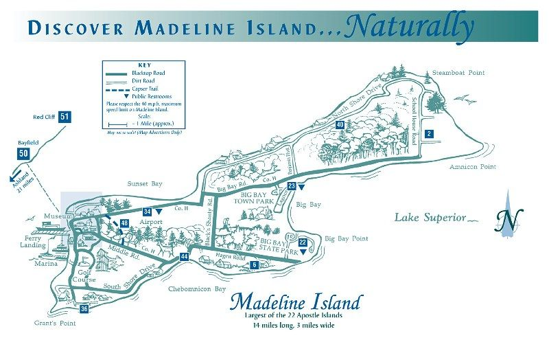 Madeline Island Map Madeline Island, Wisconsin | Madeline Island, WI in 2019