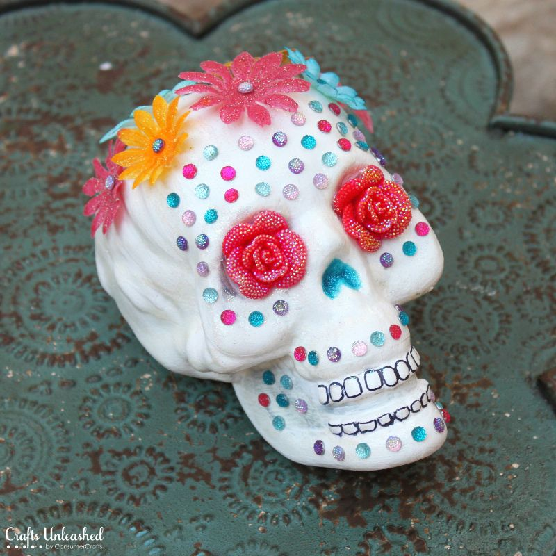 Day Of The Dead Party Ideas Sugar Skull Crafts Halloween Crafts