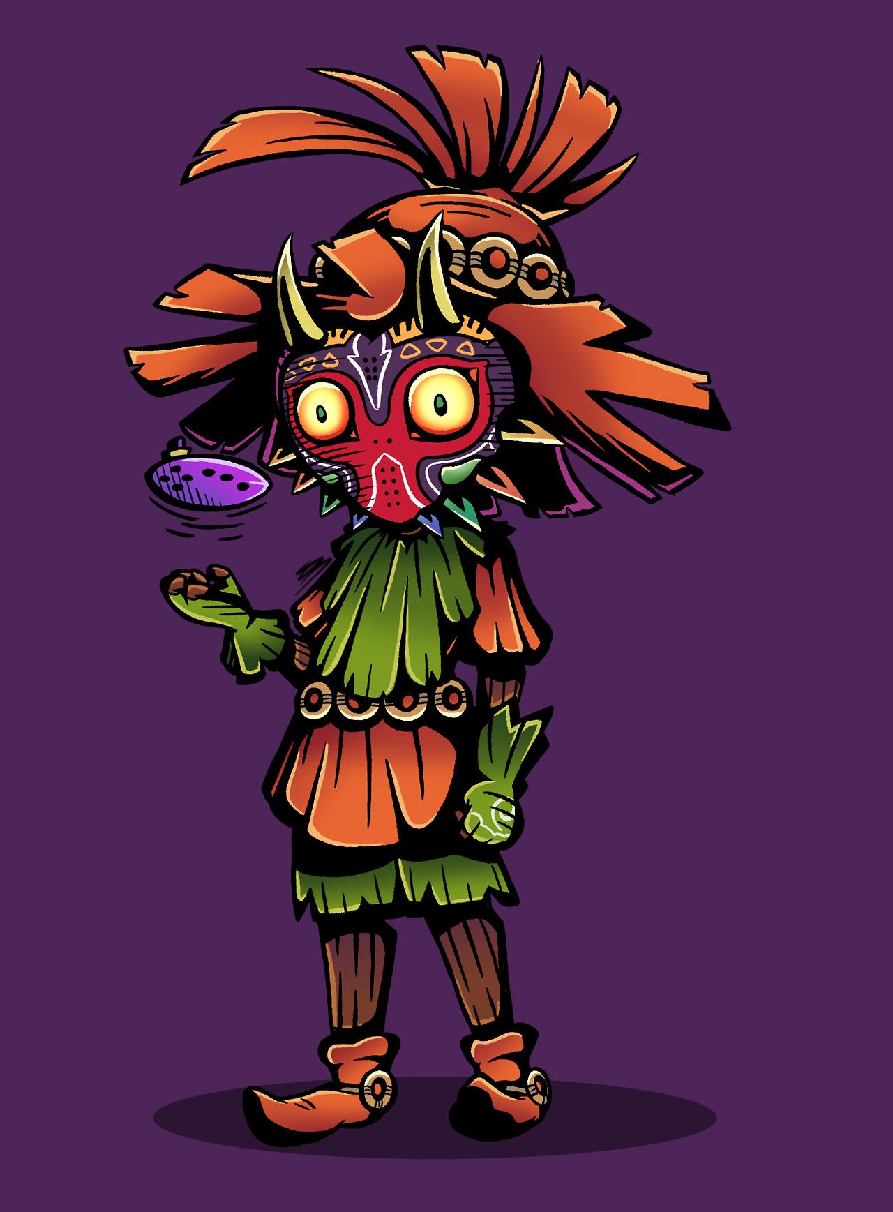 A Spooky Skull Kid Because Halloween Totally Wasn T A Few Months Ago Zelda Art Legend Of Zelda Majoras Mask Skull Kid
