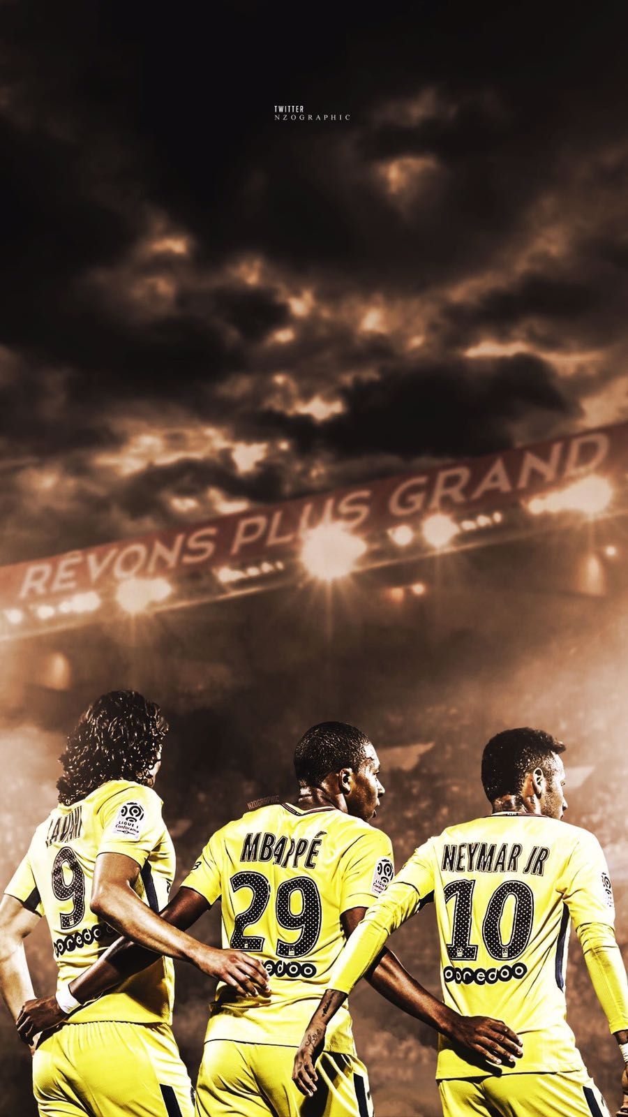 399f5794919b5 Trio CMN ( Cavani Mbappe Neymar)