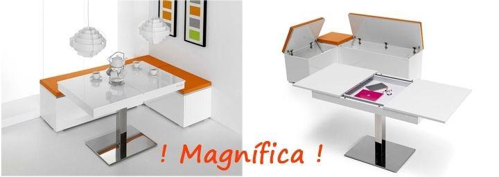 Mia Home muebles tienda online Mesa de comedor extensible muebles de ...
