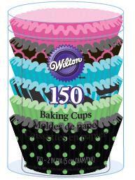 Neon 150-Count 415-2181 Wilton Darks Baking Cups Standard