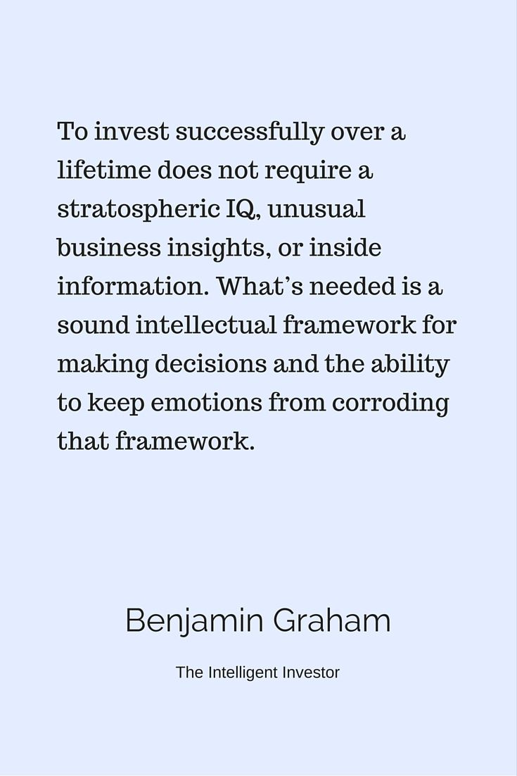 The Intelligent Investor By Benjamin Graham Is An Investment