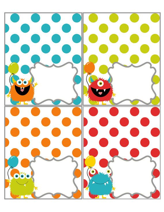 Monster Printables: You Pick ONE | Manualidades e Ideas con Sizzix ...