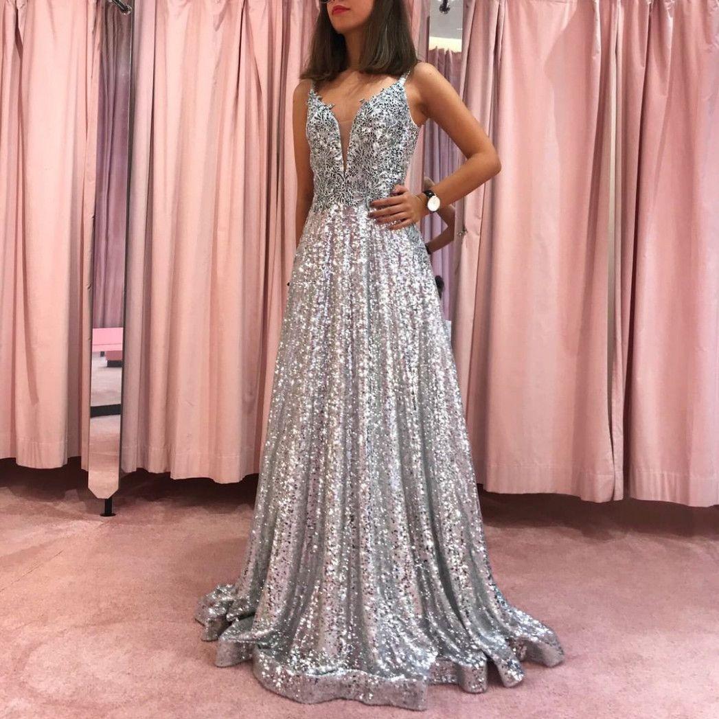 11 Kleid Glitzer Lang in 11  Abendkleid, Glamouröse