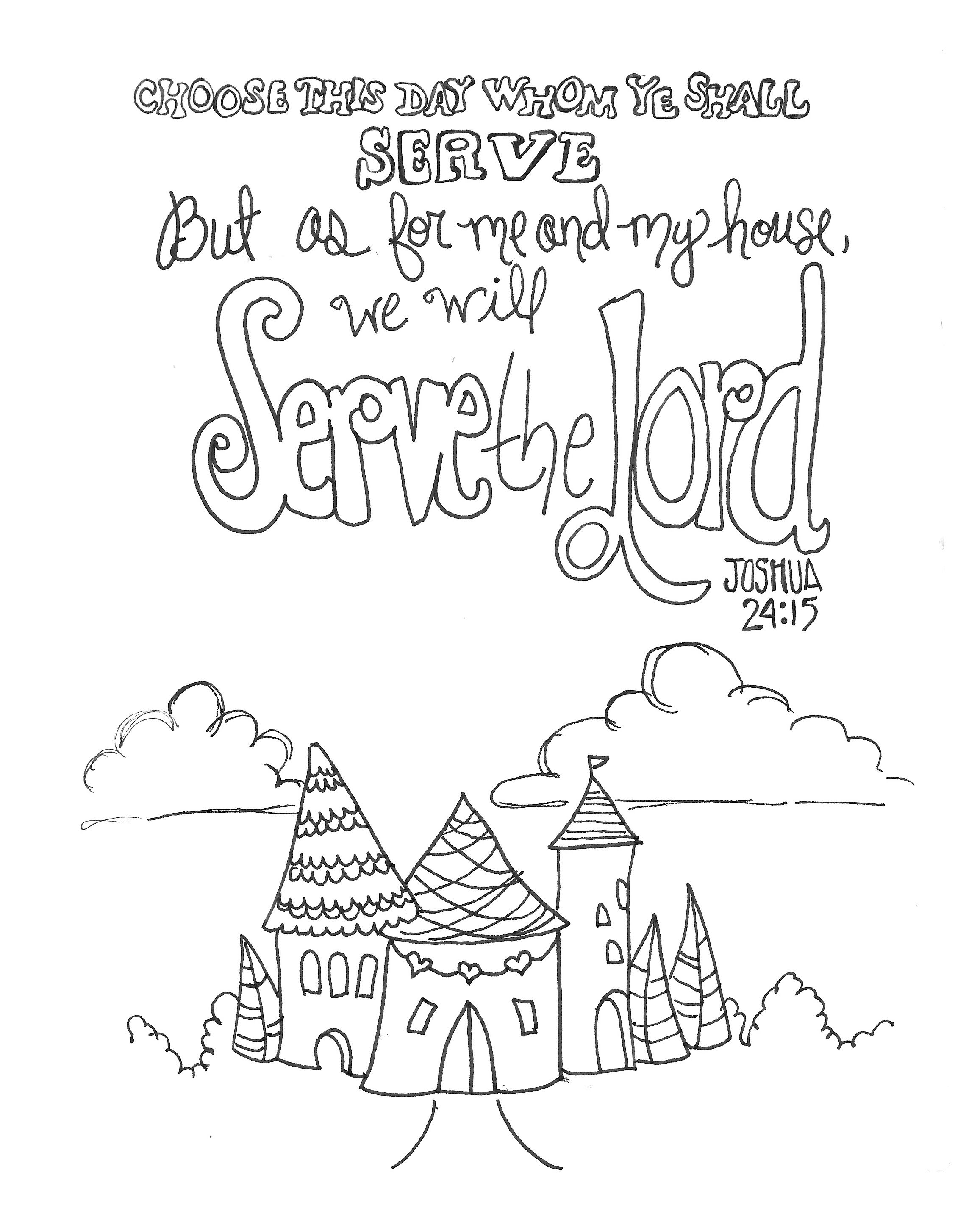 Free Coloring Printable Page 8x10 Zenspirations Download