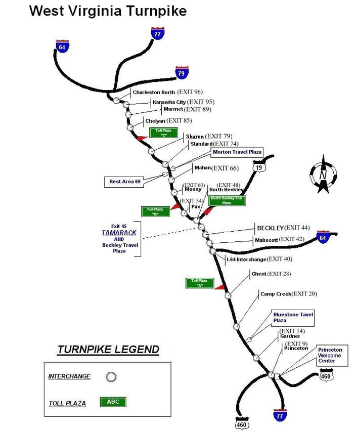 I 77 West Virginia Map.West Virginia Turnpike Google Search West Virginia Turnpike I 77