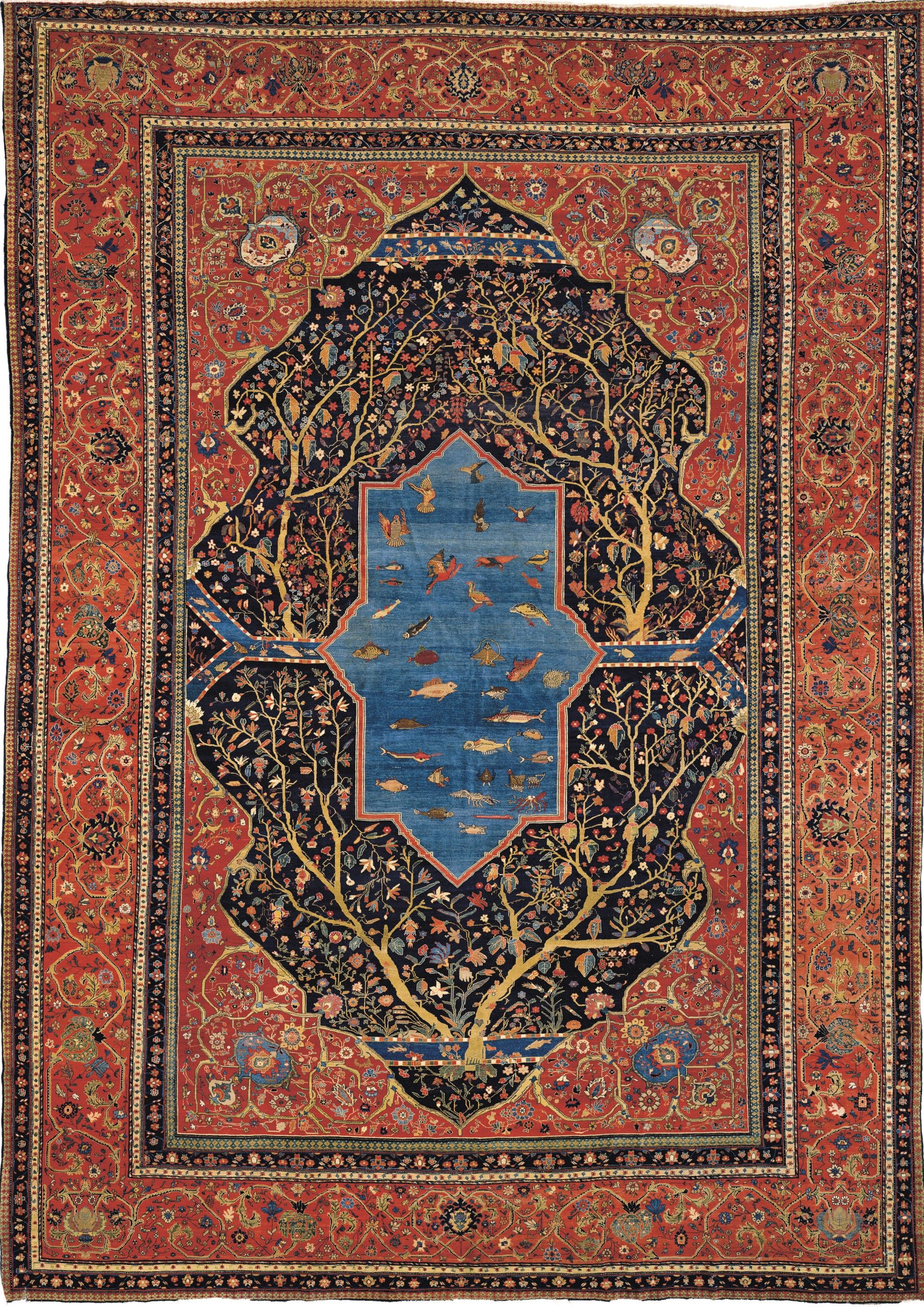Persian Sarouk Farahan Rug Late 19th C 585cm X 416cm Christie S Rugs On Carpet Rugs Persian Rug