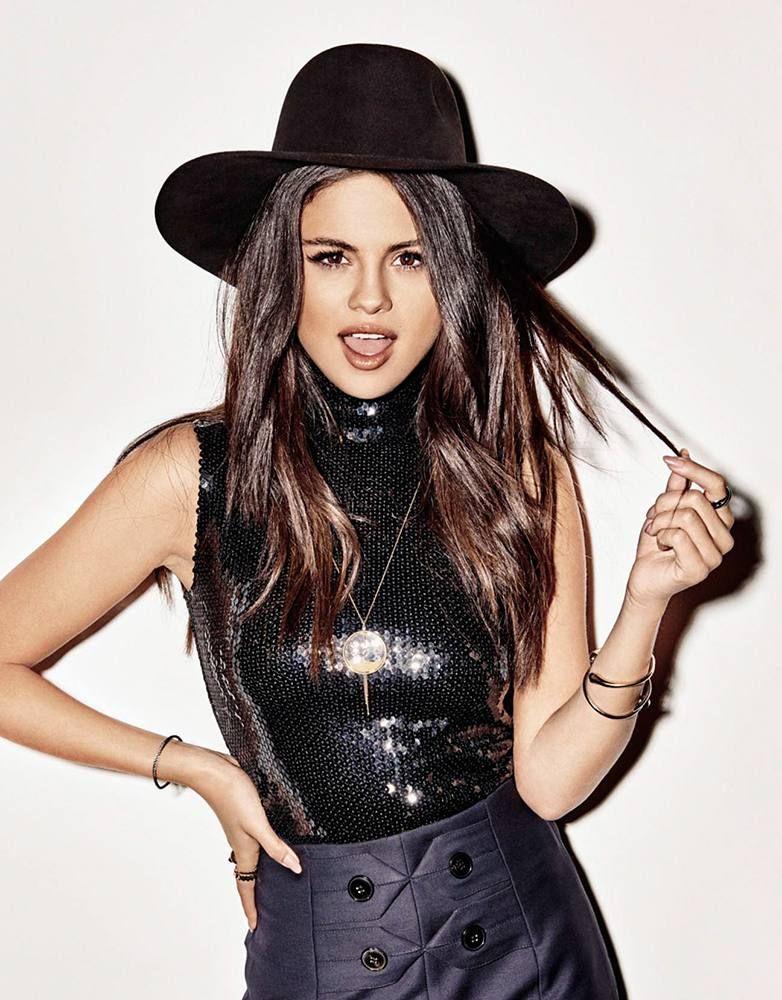 Selena Gomez in the photoshoot for Elle in 2015